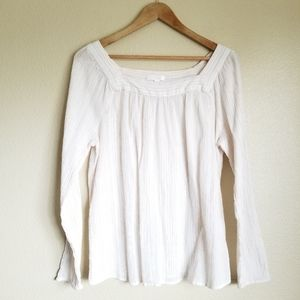 lc lauren conrad long sleeve gauze boho blouse XL